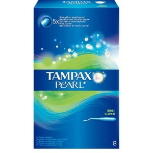 Buy Tampax Pearl Super Applicator Pack Of 8 - Nykaa
