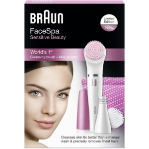 Buy Herbal Braun Face 832 - S Gift Set - Facial Cleansing Brush & Facial Epilator - Nykaa