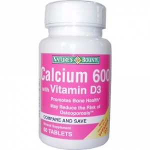 Buy Herbal Nature's Bounty Calcium 600 with Vitamin D3 - Nykaa