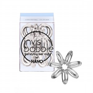 Buy Herbal Invisibobble Nano Hair Ring - Crystal Clear - Pack of 3 - Nykaa