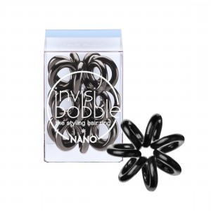 Buy Invisibobble Nano Hair Ring - True Black - Pack of 3 - Nykaa