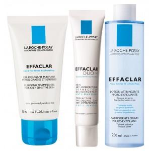 Buy Herbal La Roche-Posay Effaclar Acne Treatment Combo Kit - Nykaa