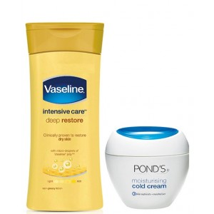 Buy Ponds Moisturising Cold Cream + Free Vaseline Intensive Care Deep Restore - Nykaa