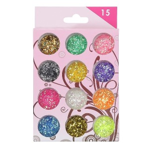 Buy Nails&More Nla-8 Glitter Set (12Pc) - Nykaa