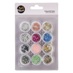 Buy Nails&More Nla-28 Glitter Set (12Pc) - Nykaa