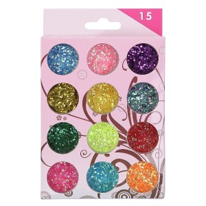 Buy Nails&More Nla-7 Glitter Nail Art Set (12Pc) - Nykaa