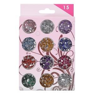 Buy Nails&More Nla-21 Glitter Nail Art Set (12Pc) - Nykaa