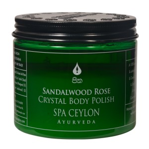 Buy Spa Ceylon Luxury Ayurveda Sandalwood Rose Crystal Body Polish - Nykaa