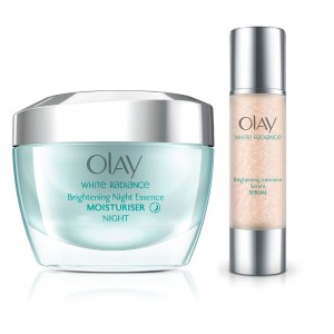 Buy Olay White Radiance Night Essence Cream Serum Regime - Nykaa