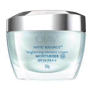 Buy Olay White Radiance Advanced Whitening Brightening Intense Cream Moisturizer SPF 24 UVA/UVB  50g - Nykaa