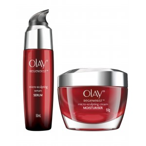 Buy Olay Regenerist Micro-Sculpting Cream + Serum Regime - Nykaa