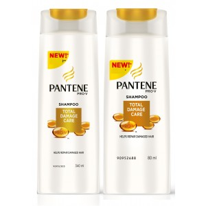 Buy Pantene Pro-V Total Damage Care Shampoo With Free 80ml Shampoo Worth Rs.50 - Nykaa
