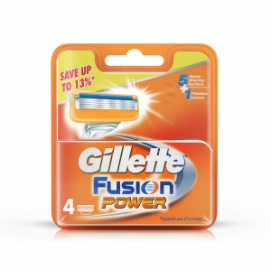 Buy Gillette Fusion Power shaving Razor Blades (Cartridge) 4s pack - Nykaa