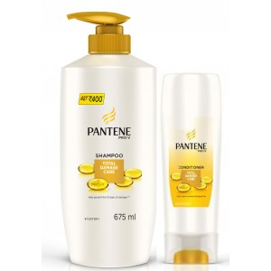Buy Pantene Pro-V Total Damage Care Shampoo + Free Conditioner (Rs. 120 off) - Nykaa