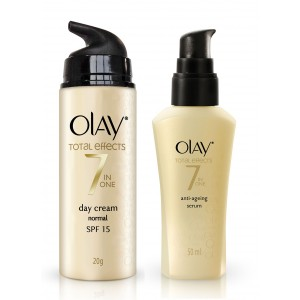 Buy Olay Total Effects Normal Day SPF15 Cream Serum Regime I - Nykaa