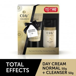Buy Olay Total Effects 7 In One Day Cream Normal + Free Foaming Face Wash - Nykaa