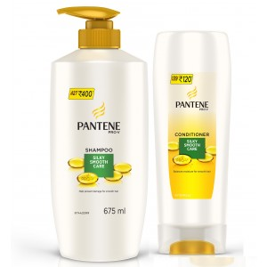 Buy Pantene Pro-V Silky Smooth Care Shampoo + Free Conditioner - Nykaa