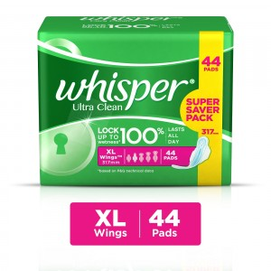 Buy Whisper Ultra Clean Xtra Large Wings Size 44 pc Pack - Nykaa