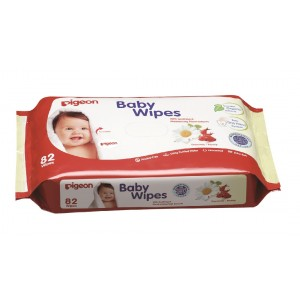 Buy Pigeon Baby Wipes, Cham and Rose - Refill - Nykaa