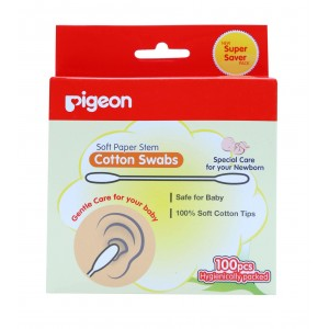 Buy Herbal Pigeon Cotton Swabs (Thick Stem) - Nykaa