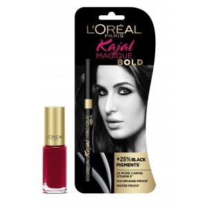 Buy L'Oreal Paris Kajal Magique Bold + Color Riche Vernis Plum Liberty - Nykaa