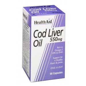 Buy HealthAid Cod Liver Oil 550mg - 90 Capsules - Nykaa