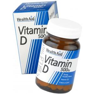 Buy Herbal HealthAid Vitamin D 500iu Vitamin D2- Ergocalciferol - Nykaa