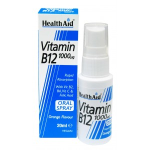 Buy HealthAid Vitamin B12 1000µg Spray - Nykaa