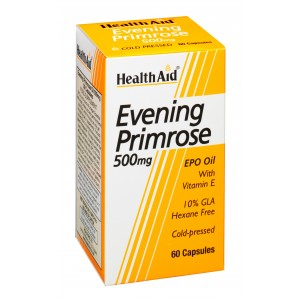 Buy HealthAid Evening Primrose Oil 500mg With Vitamin E - 60 Capsules - Nykaa