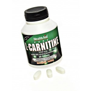 Buy Healthaid L-Carnitine 550mg With Vitamin B6 And Chromium - Nykaa