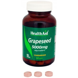 Buy HealthAid Grapeseed Extract 5000mg - Equivalent - Nykaa