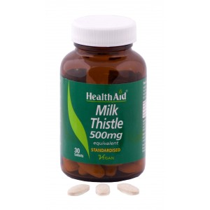 Buy HealthAid Milk Thistle 500mg - Equivalent - 30 Tablets  - Nykaa