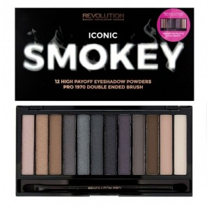 Buy Makeup Revolution Iconic Smokey Palette - Nykaa