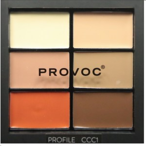 Buy Provoc Contour Correct Conceal Palette - Profile 1 - Nykaa