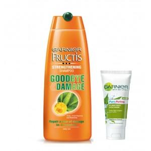 Buy Garnier Fructis Goodbye Damage Strengthening Shampoo 80ml + Free 15g Garnier Pure Active Neem Face Wash - Nykaa