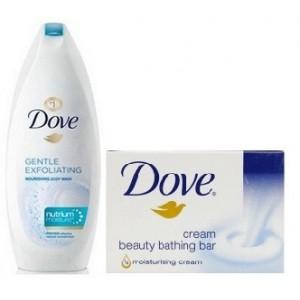 Buy Dove Gentle Exfoliating Nourishing Body Wash + Free Cream Beauty Bar (50gm) - Nykaa