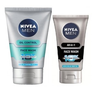 Buy Nivea Men Oil Control Face Wash + Free All In One Face Wash - Nykaa