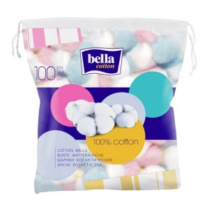 Buy Bella Cosmetic Cotton Balls Coloured A100 - Nykaa