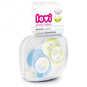 Buy Lovi Dynamic Soother Silicone 3-6 Months (Trendy) Blue & Green - Nykaa
