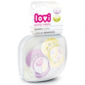 Buy Lovi Dynamic Soother Silicone 6-18 Months (Trendy) Purple & Yellow - Nykaa