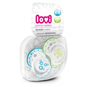 Buy Lovi Dynamic Soother Silicone 6-18 Months (Basic) Blue & Green - Nykaa