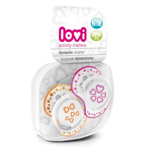 Buy Lovi Dynamic Soother Silicone 6-18 Months (Basic) Pink & Orange - Nykaa