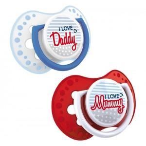 Buy Lovi Dynamic Soother Silicone (6-18M) Red  & Blue - 2 Pieces - Nykaa