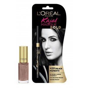 Buy L'Oreal Paris Kajal Magique Bold + Color Riche Vernis Versailes Gold - Nykaa