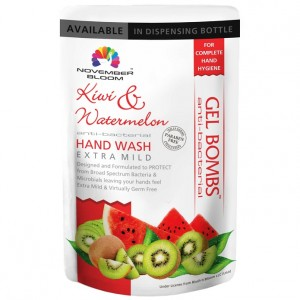 Buy November Bloom Kiwi And Watermelon Hand Wash Refill Pouch - Nykaa