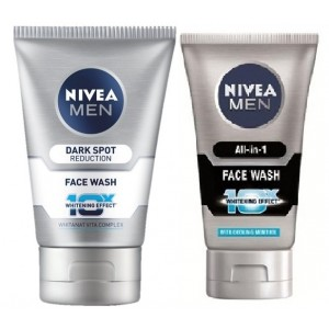 Buy Nivea Men Dark Spot Reduction Face Wash + Free All In One Face Wash - Nykaa