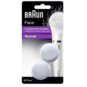 Buy Braun Face 2 Replacement Brushes Braun Face Brush Normal 80 Face - Nykaa