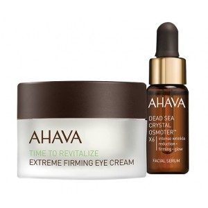Buy AHAVA Extreme Firming Eye Cream + Crystal Osmoter Facial Serum Kit - Nykaa