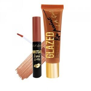 Buy L.A Girl Lip Paint Glazed - Gleam + Metal Liquid Lipstick - Polished - Nykaa