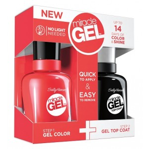 Buy Herbal Sally Hansen Miracle Gel Dual Pack - Top Coat + Redgy - Nykaa